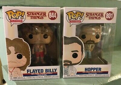Stranger Things Funko Pop Lot of 2 Hopper Flayed Billy 801 & 844 NEW