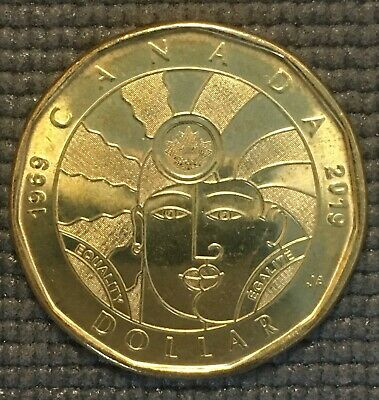 1969-2019 CANADA EQUALITY ONE DOLLAR LOONIE COIN  free combined shipping.