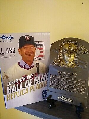 Edgar Martinez Replica Hall Of Fame Plaque NEW - 8/10/19 HOF