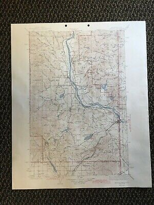 Vintage USGS Newport Washington Idaho 1942 Topographic Map