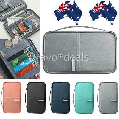 Passport Holder Travel Wallet RFID Organiser Pouch for Cards Documents Money OZ