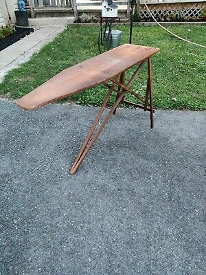 Nice Vintage Antique Wooden Folding Ironing Board from Early 1930's