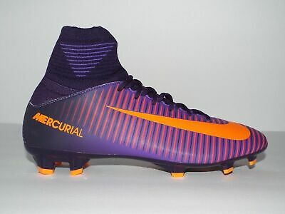 best authentic 7467d fb61f NIKE JR MERCURIAL Superfly V 5 FG 831943-585 Purple NEW Youth Kids Soccer  Cleats