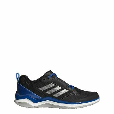 Mens Adidas Speed Trainer 3.0 Turf Baseball Shoes 5.5 Black Blue White Q16540