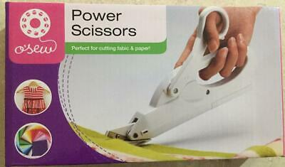 O'Sew Power Scissors Cutting Fabric and Paper Quilting Sewing Dressmaking New
