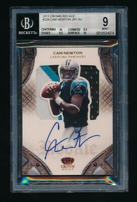 Cam Newton 2011 Crown Royale Patch Rc Auto #/199 Rc Bgs 9 *Carolina Panthers*