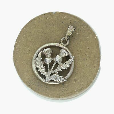 goodbyebabylon / sterling silver vintage scottish thistle / pendant (2g)