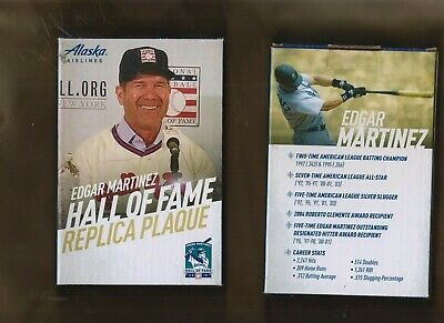 Seattle Mariners Aug 10 2019 Sga Edgar Martinez Hall Of Fame Replica Plaque Hof