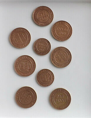 early Australian pennies  Great lot of clean pennies