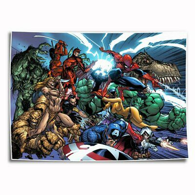 Marvel's The Avengers HD Canvas prints Painting Home Decor Picture Room Wall art