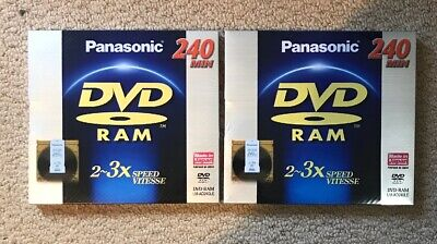 PANASONIC DVD RAM (2-3X speed) 240 Min 9.4GB Double Sided LM-AD240LE x 2 NEW