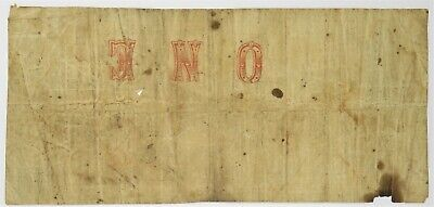 1864 $1 One Dollar State of Louisiana Banknote Confederate Paper Note #20737F