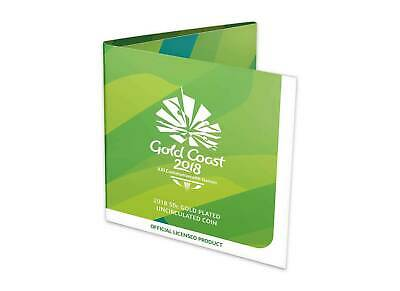2018 Commonwealth Games 50c Gold Plated Uncirculated Coin