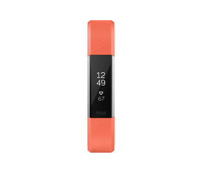 Fitbit Alta HR Coral/Stainless Steel Activity Tracker - Small