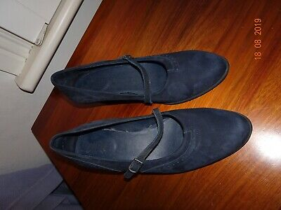Arche NEW Navy Suede Heels Size 39.5 Made in France