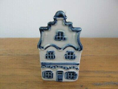 KLM Rynbende Apricot Brandy Empty Delft House - No.1 - with label.