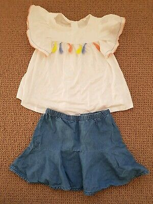 Country Road And Seed Girls Top And Skirt Size 4