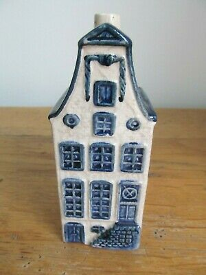 KLM Rynbende Apricot Brandy Empty Delft House - No.9 - with label.