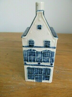KLM Rynbende Apricot Brandy Empty Delft House - No.8 - with label.