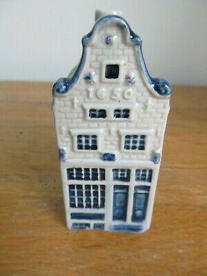KLM Rynbende Apricot Brandy Empty Delft House - No.12 - with label.