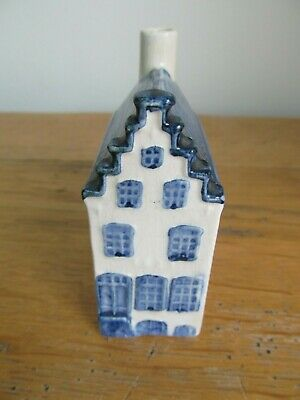 KLM Rynbende Apricot Brandy Empty Delft House - No.2 - with label.