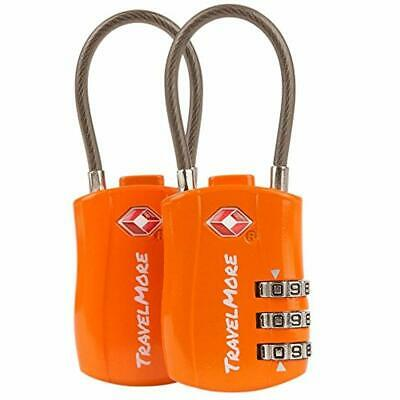 TSA Approved Travel Combination Cable Luggage Locks for Suitcases - Option