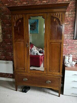 Antique late 19th early 20th century coat wardrobe perfect for hotel cottage