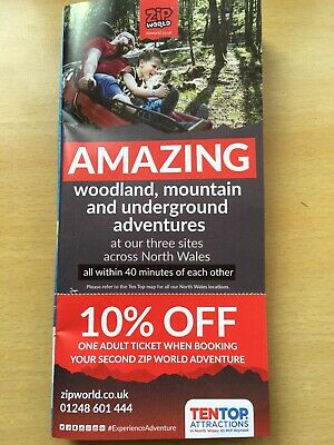 Zip World 10% off Adult Entry Voucher