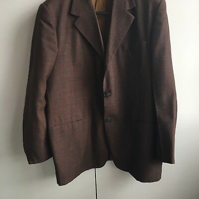 Vintage (60s/70s?) Brown Jacket. Approx Size 42?
