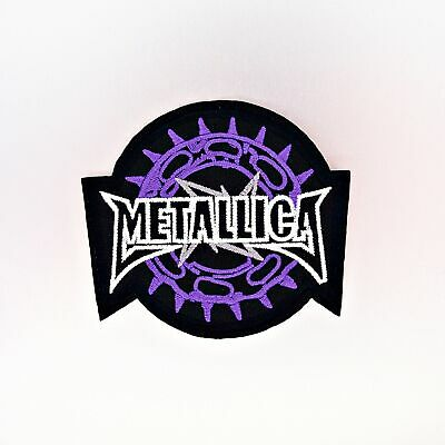 Metallica Patch — Iron On Badge Embroidered Motif — Band Heavy Metal Purple