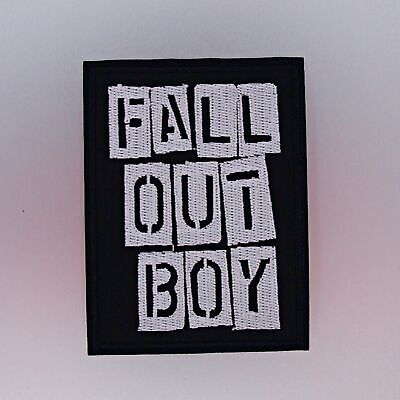 Fall Out Boy Patch — Iron On Badge Embroidered Motif — Band Rock Music