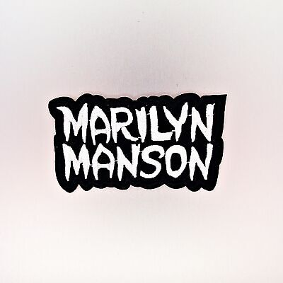 Marilyn Manson Patch — Iron On Badge Embroidered Motif — Music Rock