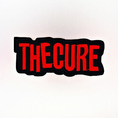 The Cure Patch — Iron On Badge Embroidered Motif — Band Music Rock