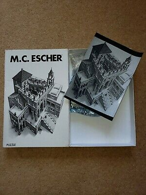 M.C. ESCHER jigsaw puzzle ASCENDING and DESCENDING 1000 pieces Free pool postage