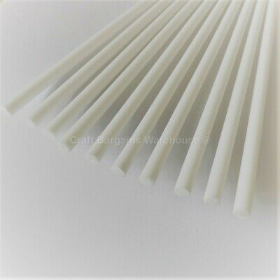 "QUALITY White Plastic CAKE DOWELS 8"" Support Wedding Sugarcraft DOWELLING"