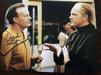 Star Trek Voyager autographed photo Dwight Schultz (Reginald Barclay)
