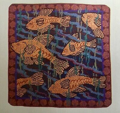 AFRICAN FISH CUSHION TAPESTRY NEEDLEPOINT COLOUR CHART - Lillian Delevoryas