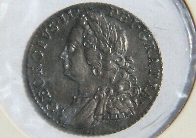 George II 1758 Silver Shilling – old head, very nice coin.