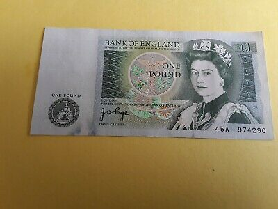 UK, Bank of England  One Pound Banknote ~ J.B Page . 45A 974290
