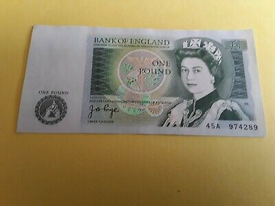 UK, Bank of England  One Pound Banknote ~ J.B Page . 45A 974289
