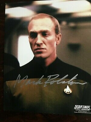 Star Trek TNG autographed photo Mark Rolston (Lieutenant Walter Pierce)