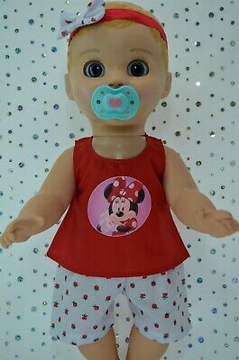 """Play n Wear Dolls Clothes For 17"""" Luvabella Doll STRAWBERRY PANTS~TOP~HEADBAND"""