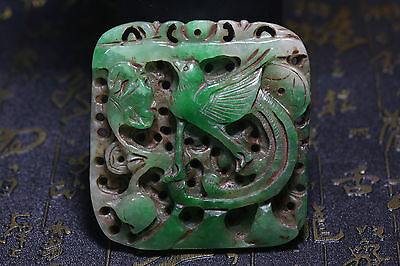 Antique Old Chinese Nephrite Celadon Jade Carved Pendant Statues *The beast*146g