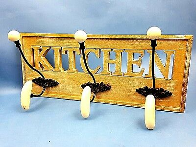 Wall Coat Hook Kitchen Design Wood Metal Shabby Chic Clothes Hooks Rack