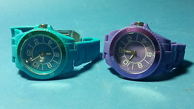 Wrist Watch Colourful Purple or Blue / Green Great Condition - Super Look