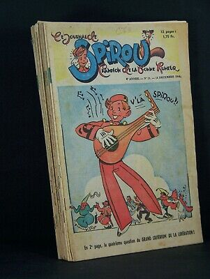 Lot rares 15 Fascicules Journal de Spirou  1944-1948-1949 Jijé Franquin  TBE