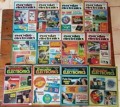 Everyday Electronics Vintage Magazine 1977 - Full Year - All 12 Issues