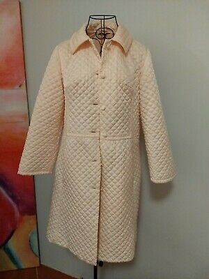 Harvey Nichols Vintage Dressing Gown Women's Size 6 Apricot Quilted look London