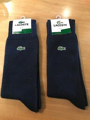 Two Pairs Of Mens Lacoste Navy Blue Socks BNWT