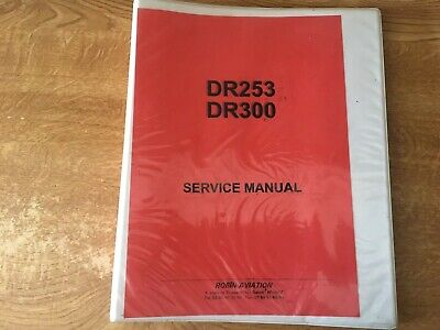 Robin Aviation DR253 DR300 Service Manual Aircraft Plane Aeroplane
